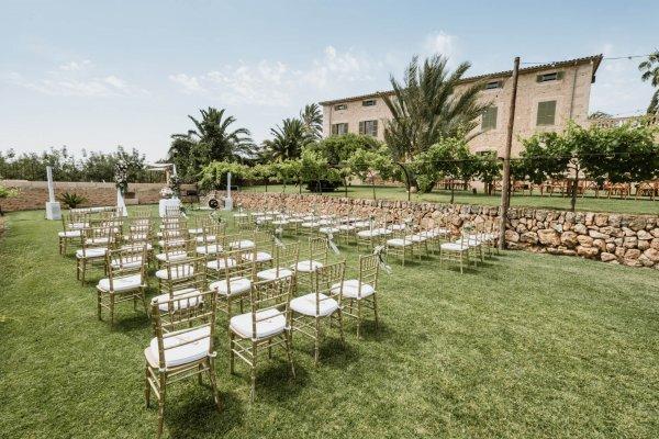 Zeremonie und Dinner Area, so nah beieinander und doch so intim!