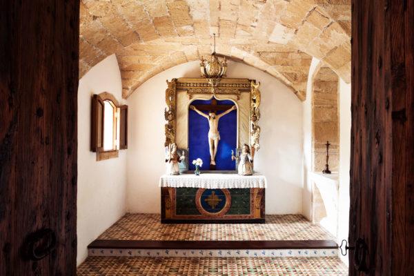 Die Finca verfügt über eine hauseigene Kapelle