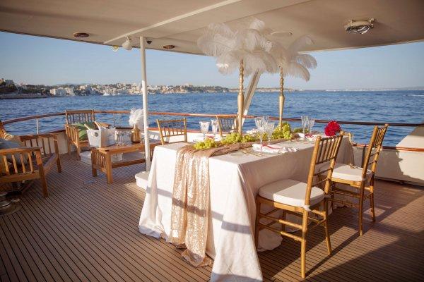 Dinner auf eine 26 Meter Yacht